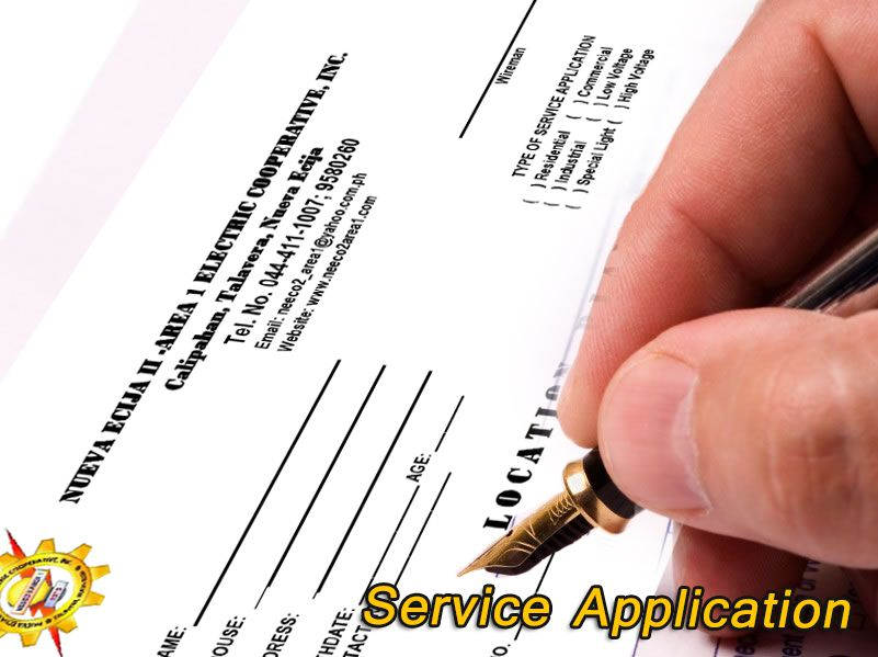 Service Application Process and Fee's